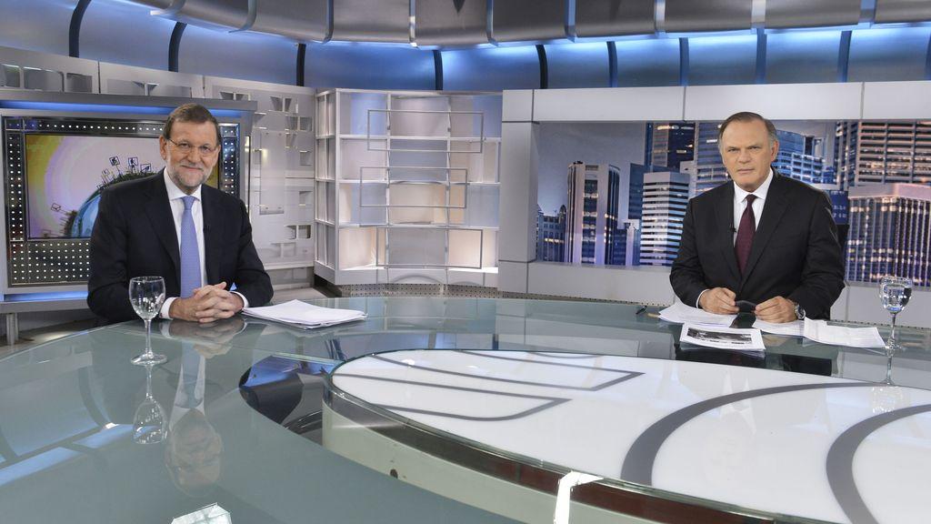 Pedro Piqueras entrevista a Mariano Rajoy