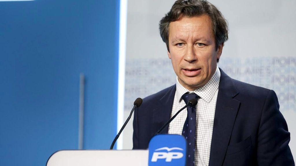 Rueda de prensa de Carlos Floriano, vicesecretario de Organización del PP