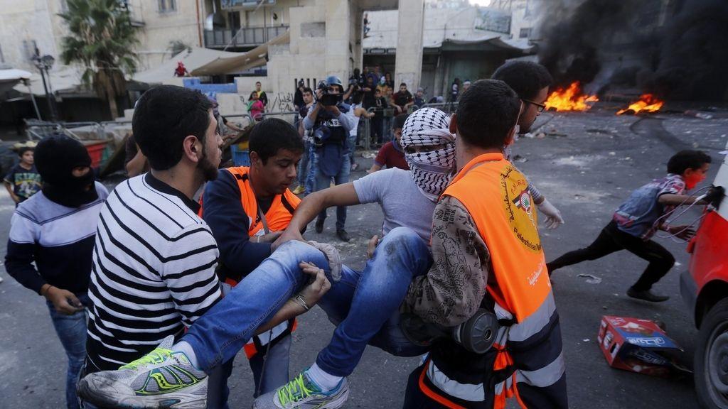 Protestas palestinas en Hebrón