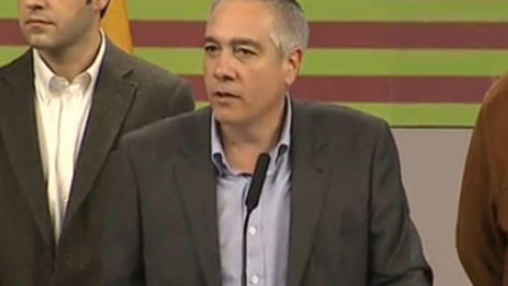 Pere Navarro comparece tras finalizar el escrutinio