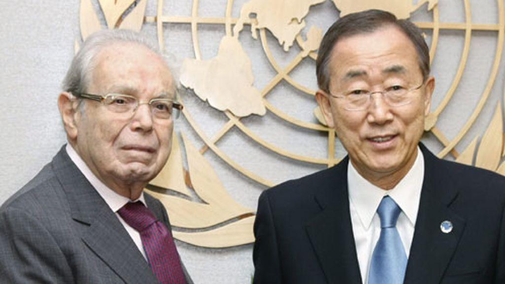 Ban Ki Moon antes de la reunión del Consejo de Seguridad de la ONU.