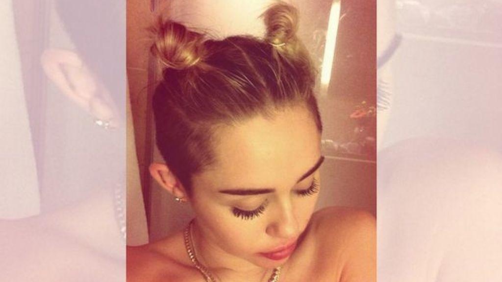 Miley Cyrus se desnuda antes de los MTV Europe Music Awards