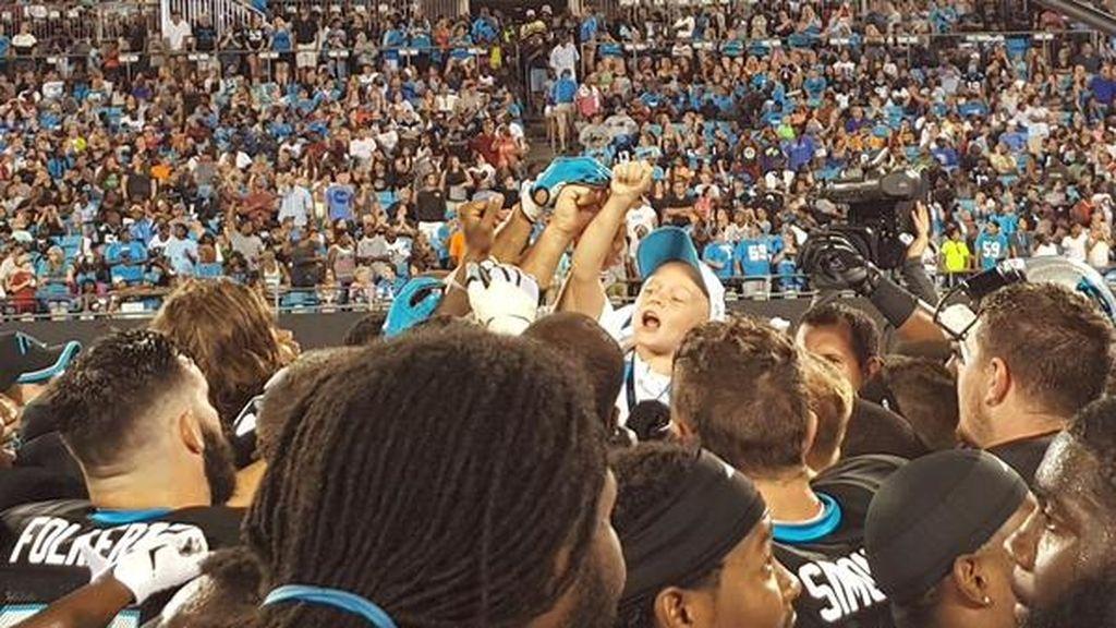 Braylon Beam, entrenador de los Carolina Panthers por un día
