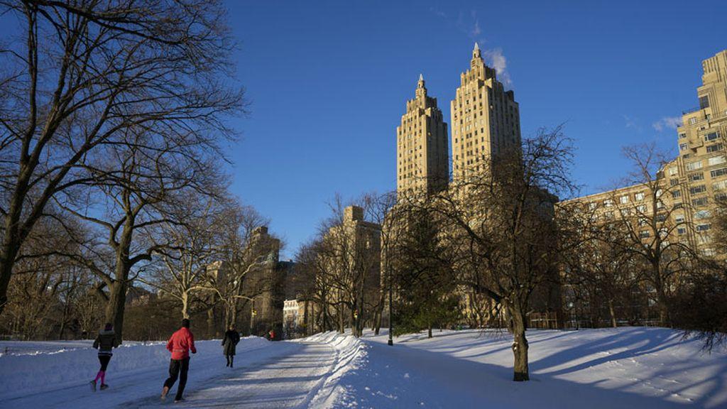 El Central Park sufre la fuerte nevada de 'Jonas'