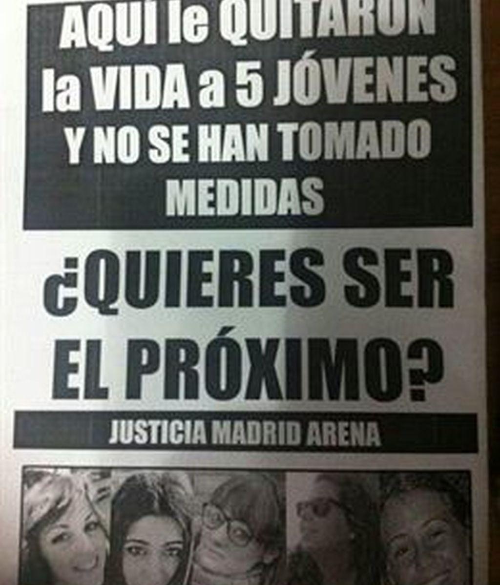 Los familiares y amigos de las víctimas del Madrid Arena protestan contra su reapertura