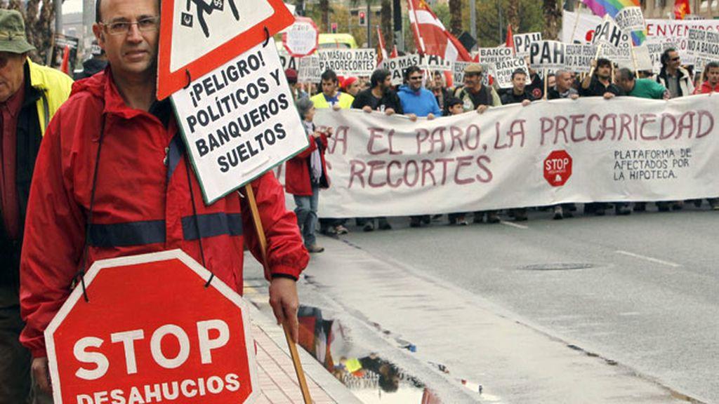 Marcha en Murcia contra el paro, los recortes y la precaridad