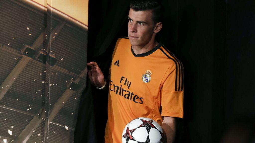 El delantero galés del Real Madrid, Gareth Bale, durante la presentación de la nueva equipación para la Liga de Campeones