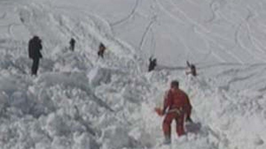 Rescatado el cadáver de un montañero. Foto: Informativos Telecinco