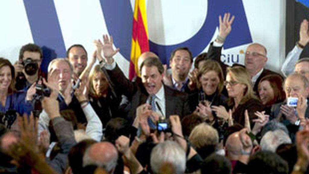 Artur Mas, líder de CiU, y ganador de las elecciones autonómicas en Cataluña.