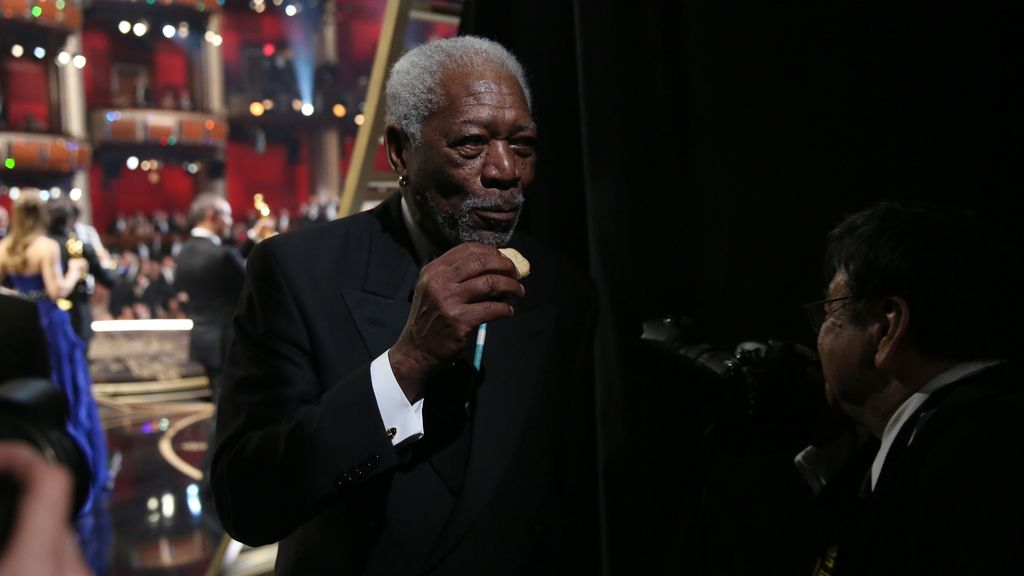 Morgan Freeman, en el backstage