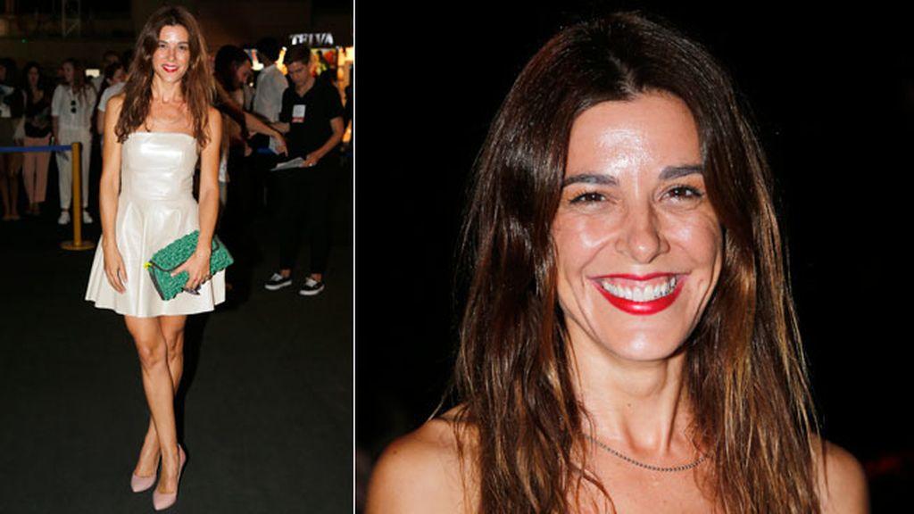 Raquel Sánchez Silva en el desfile de Duyos