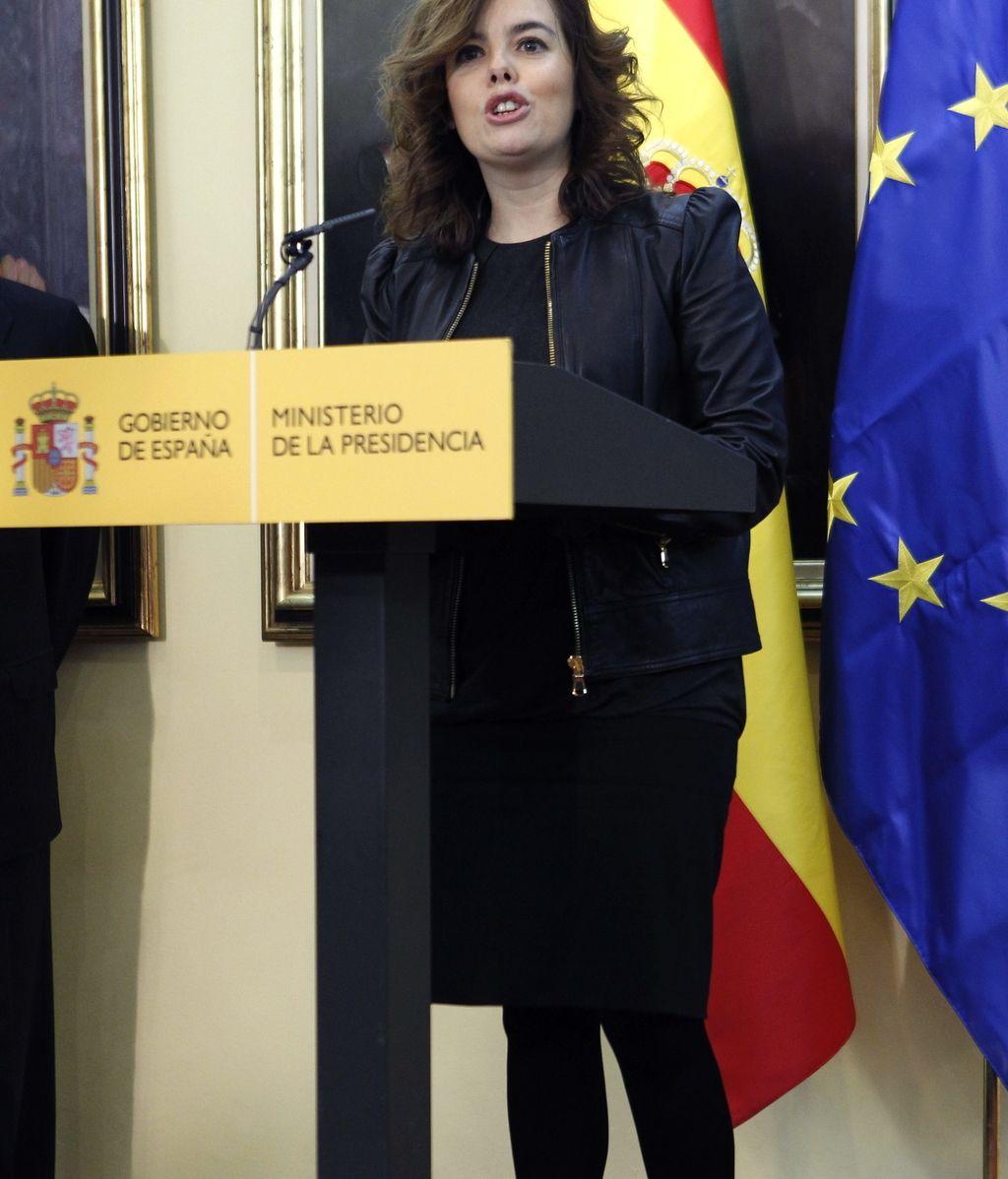 Soraya Saénz de Santamaría preside en Moncloa la toma de posesión de dos secretarios de Estado