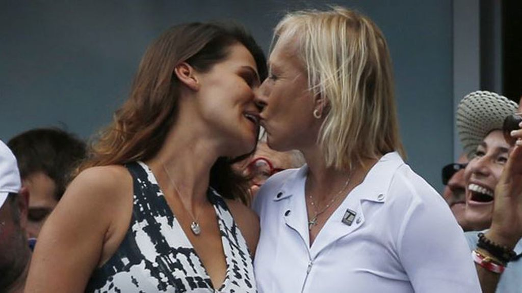 Martina Navratilova le pide matrimonio a su novia durante el US Open