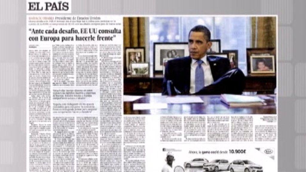 Entrevista de Obama en El País