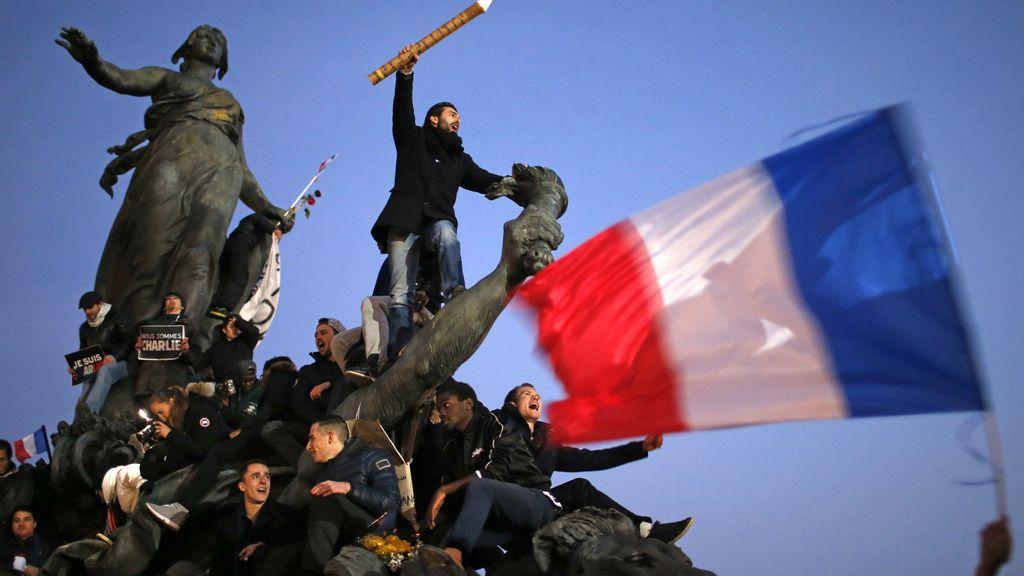 Manifestación contra el terrorismo en París