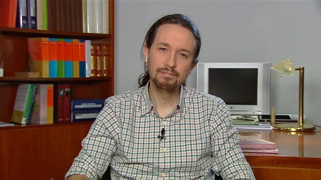 Pablo Iglesias, en Informativos Telecinco