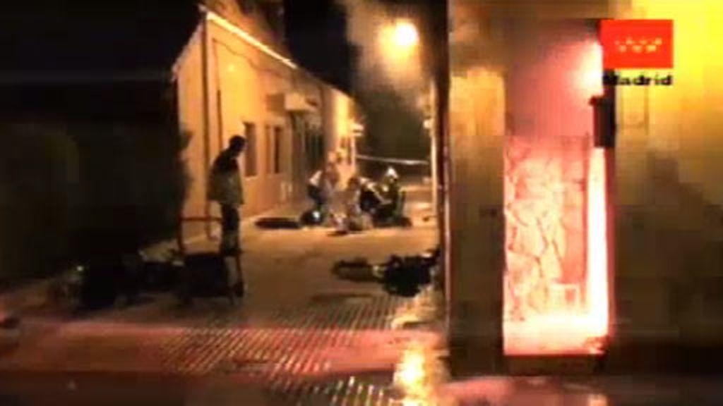 Investigan un extraño incendio en Colmenar Viejo.
