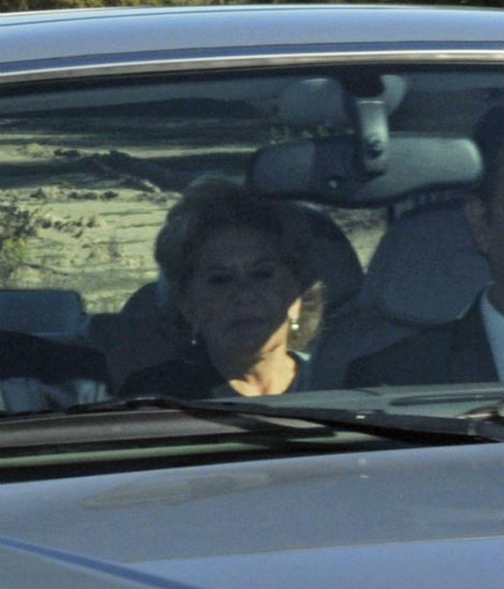 Carmen Bazán, madre del novio, coincidió con su ex marido, Humberto