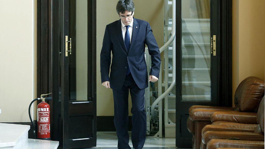 """Puigdemont se someterá a una cuestión de confianza """"pasado agosto"""""""