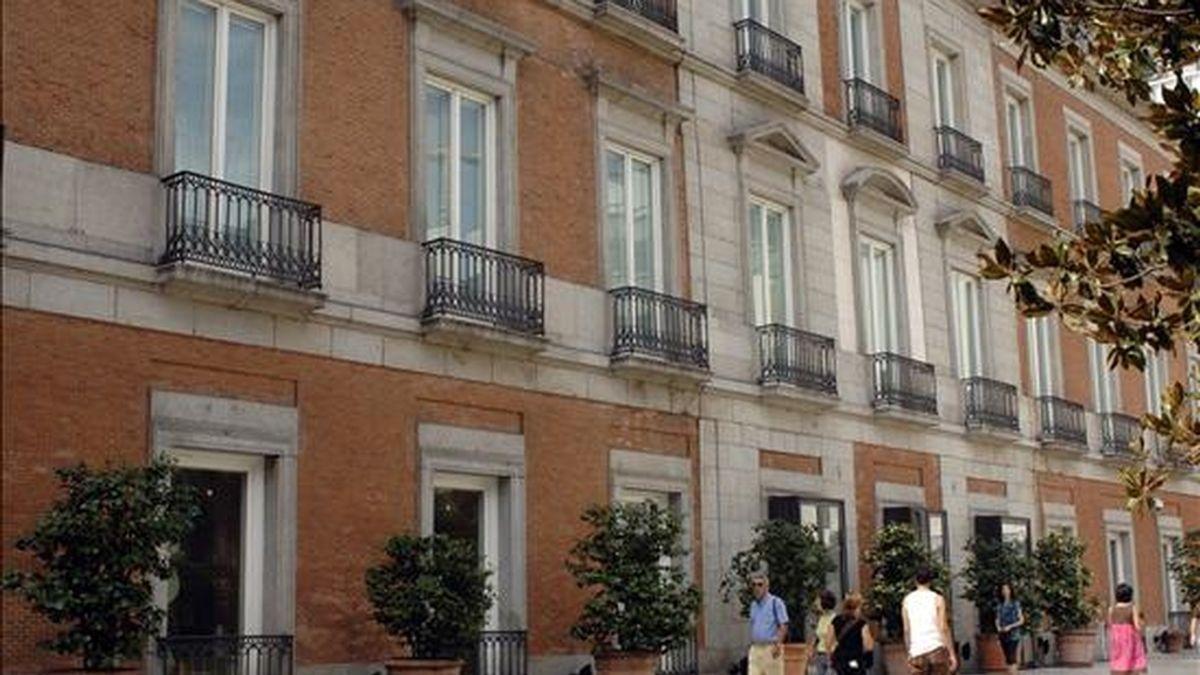 Fachada exterior del palacio de Villahermosa que alberga la colección del Museo Thyssen Bornemisza. EFE/Archivo