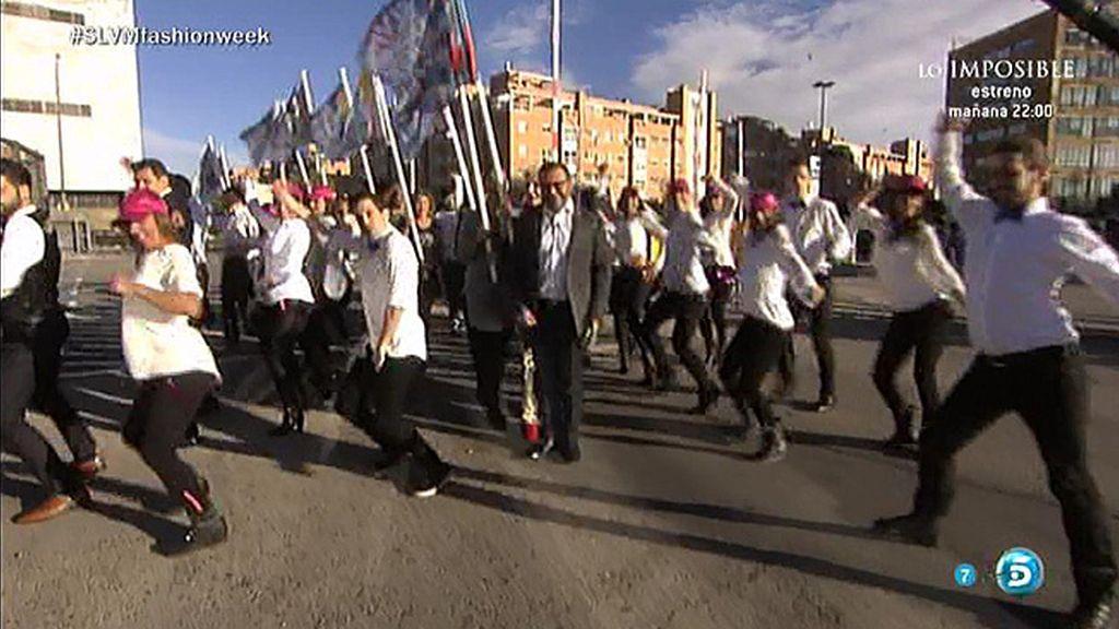 Tras un flashmob, Sara Carbonero cortaba la cinta inaugural