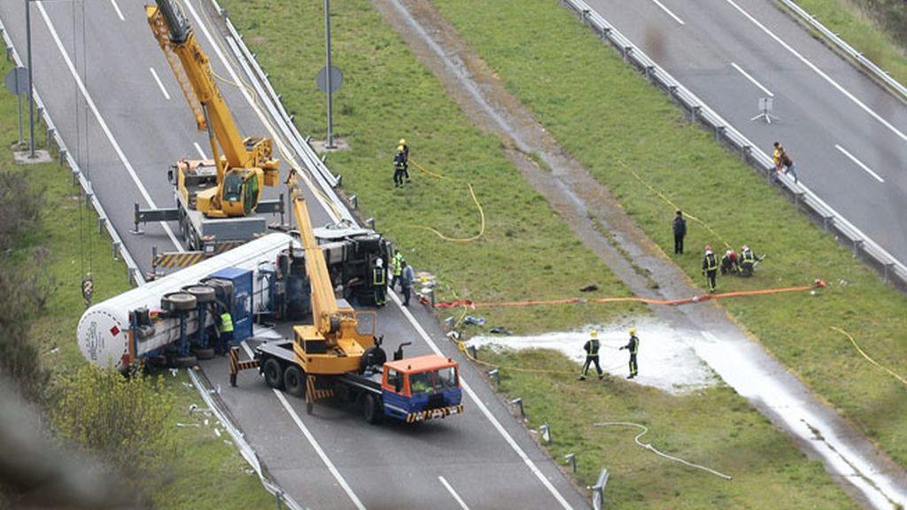 Accidente de un camión en Galicia