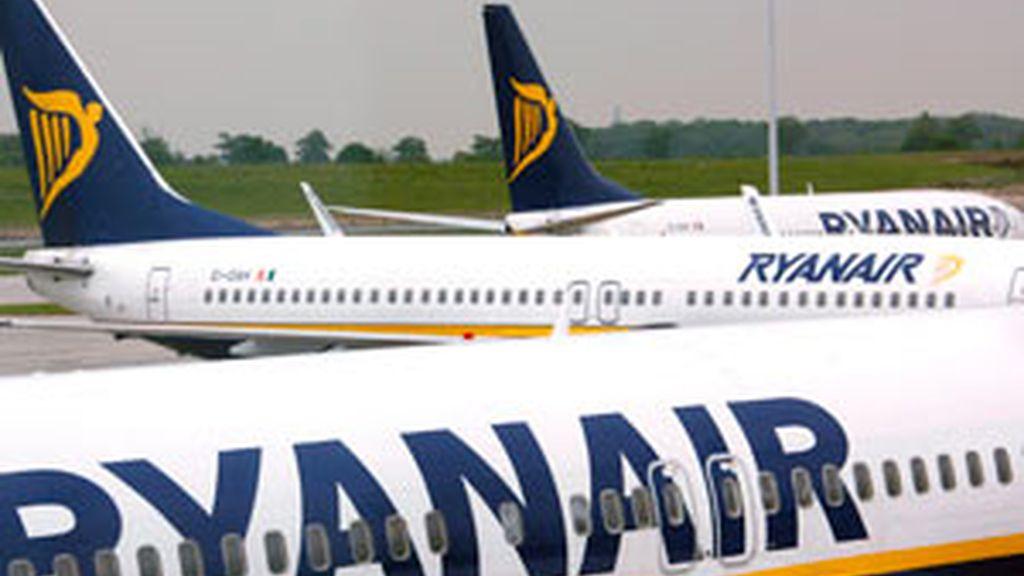 Aviones de la compañía Ryanair, en una imagen de archivo. Foto: EFE