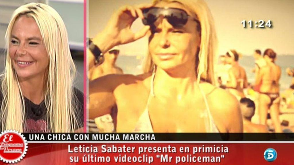 Leticia ha presentado en 'El programa del verano' su nuevo single, 'Mr. Policeman'