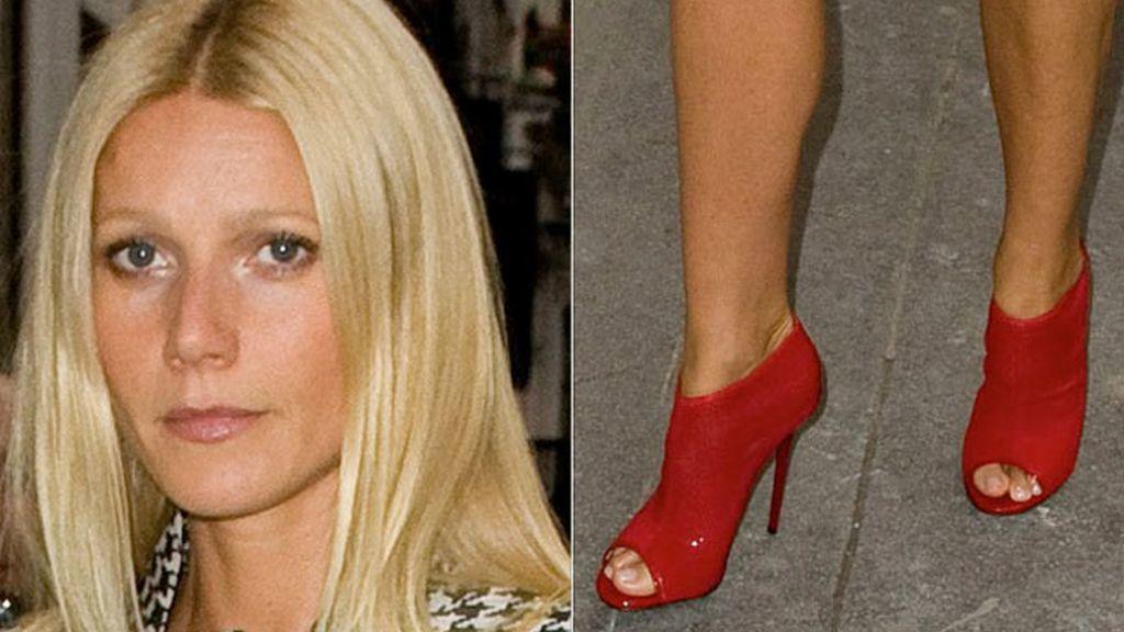 Gwyneth Paltrow, botines rojo pasión