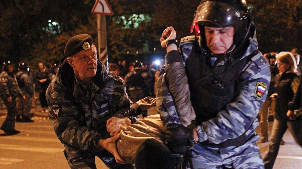 Altercados y 200 detenidos en las protestas de Moscú