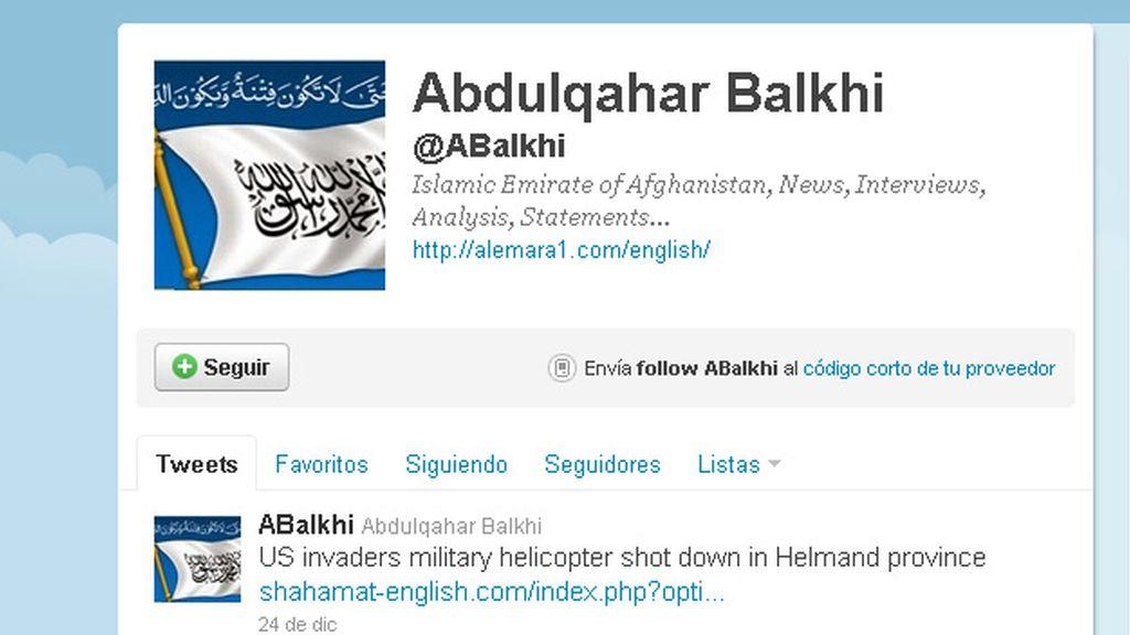 Cuentas como @ABalkhi -con más de 4.100 seguidores- y @alemarahweb -con más de 6.200- defienden en Twitter las opiniones de los talibanes.