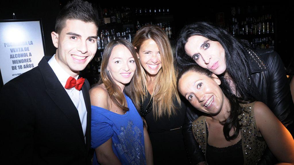 Fran Guzmán, la estilista Ana Antic, Eva Hernández, Dolors Borras y Mario Vaquerizo.