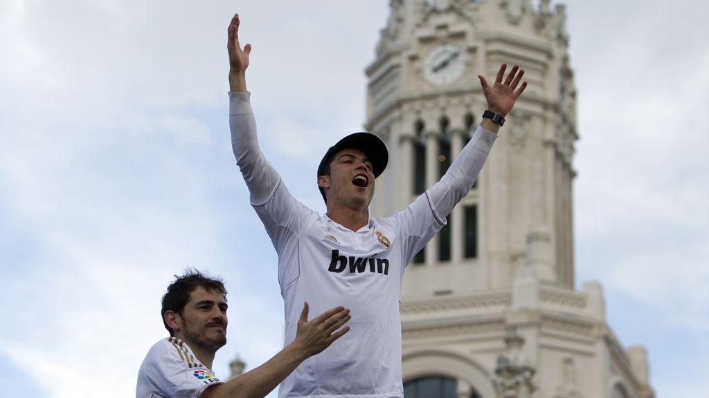 Cristiano Ronaldo y Casillas en CIbeles