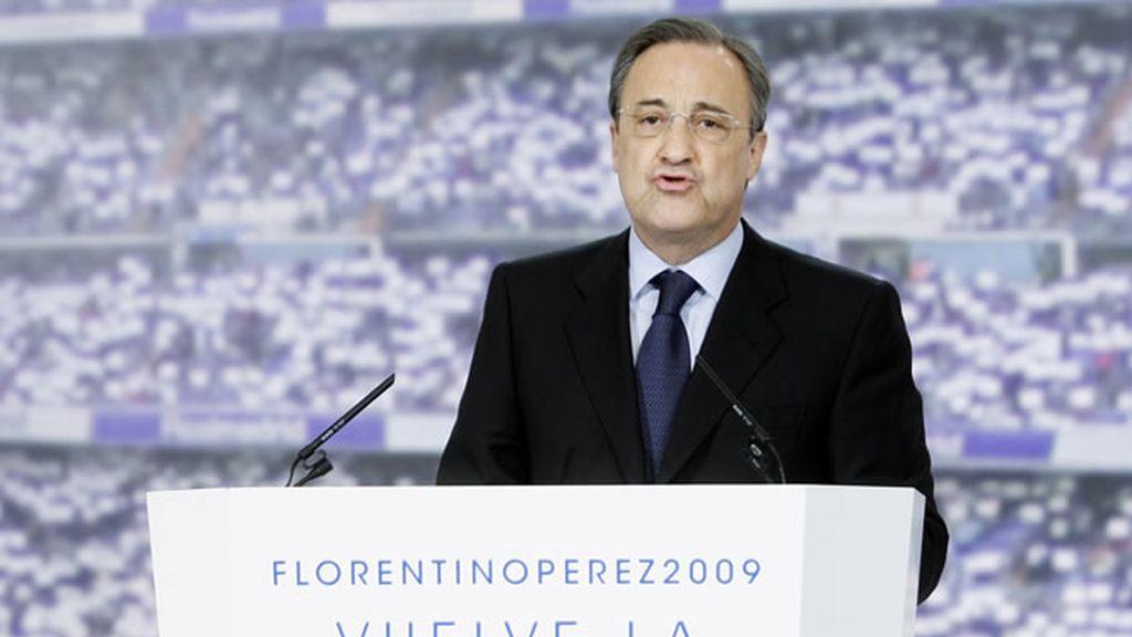 Florentino en la presentación de su proyecto