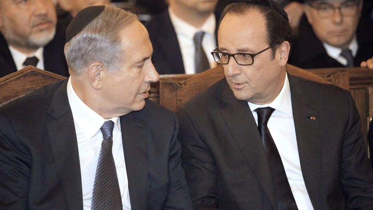 Hollande y Netanyahu