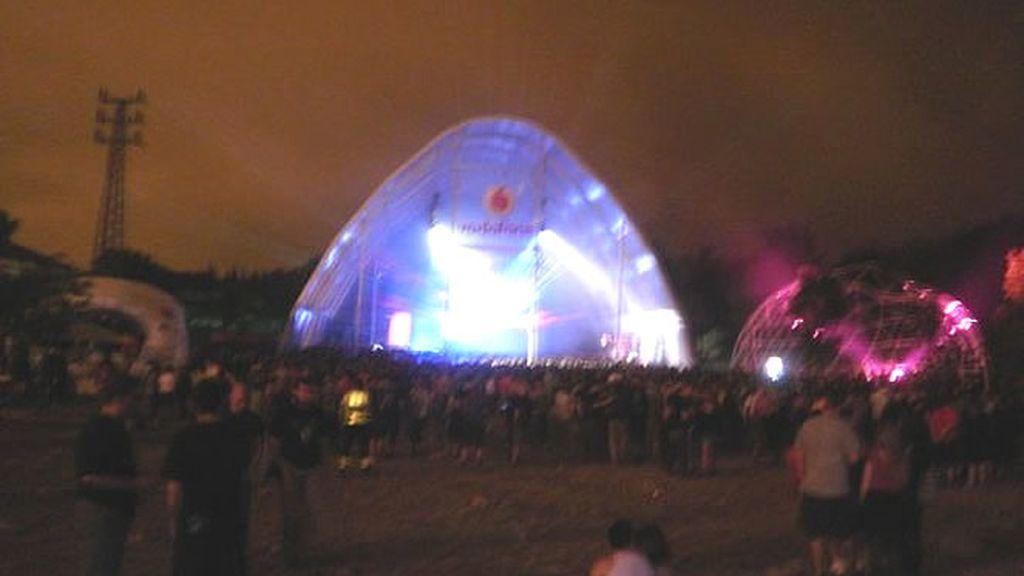 Cae la noche en el Bilbao BBK Live 2010