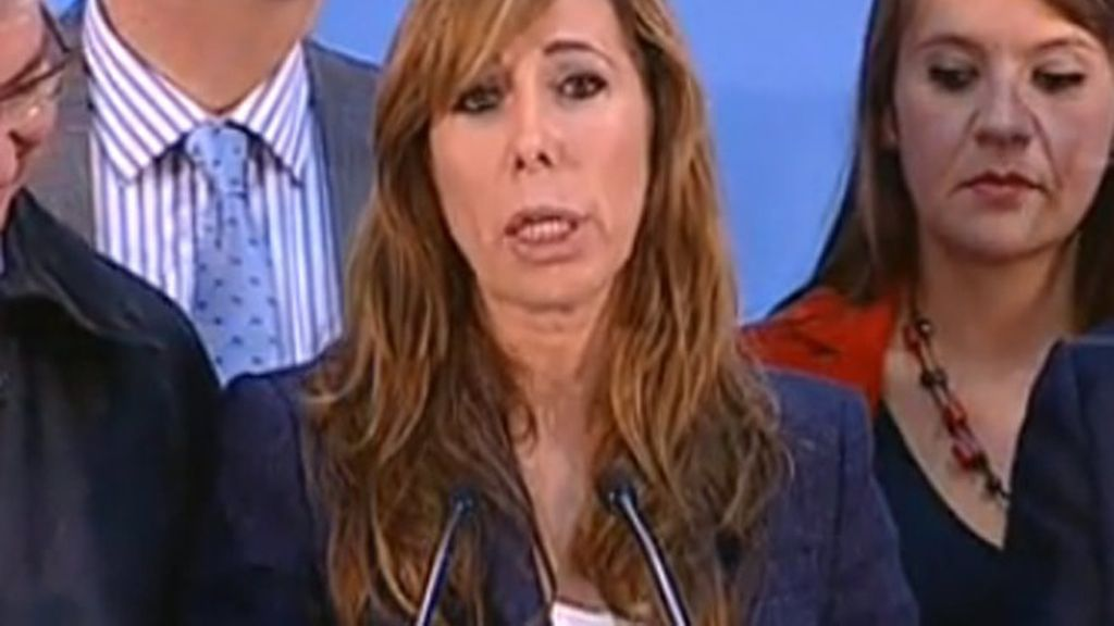 Alicia Sánchez Camacho comparece tras finalizar el escrutinio