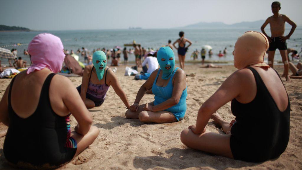 La última moda en China para protegerse del Sol