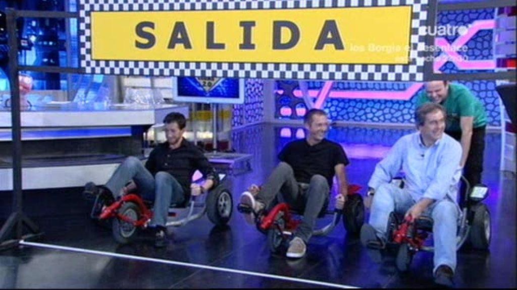 Los Manolos sobre ruedas
