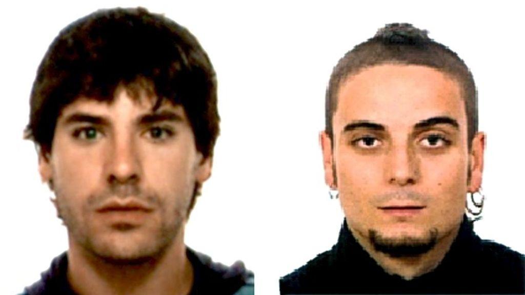 Ugaitz Errazquín Tellería y José Javier Oses Carrasco, presuntos etarras detenidos en Francia