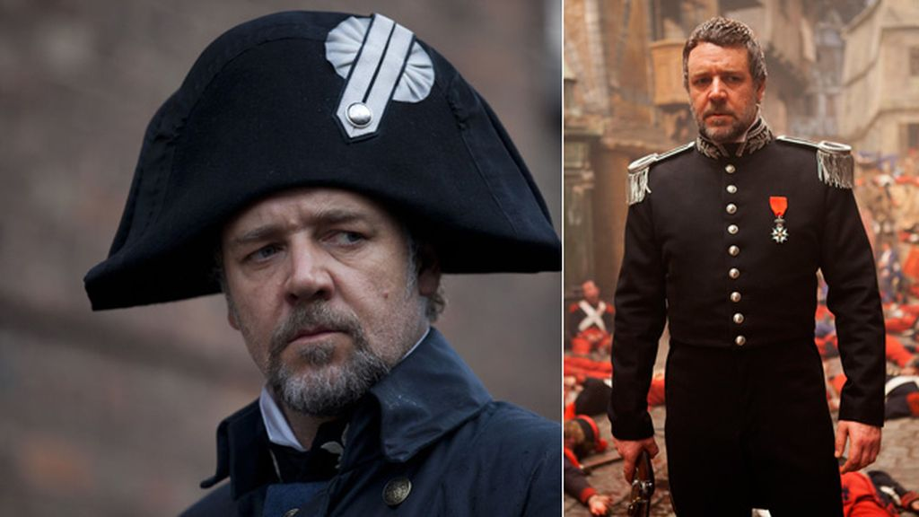 Según pasa la película, Javert va oscureciendo sus ropajes, al igual que palidece su alma