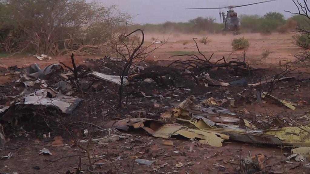 Hallados en Mali los restos de la aeronave siniestrada