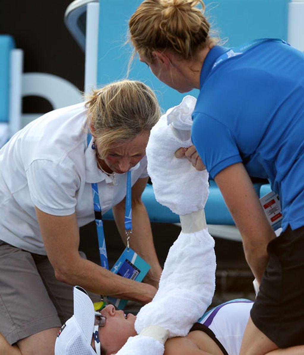 El calor hace desfallecer a los tenistas en el Open de Australia
