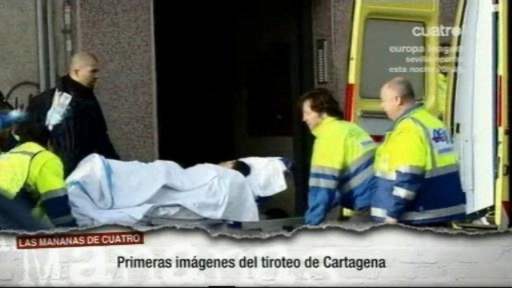 Primeras imágenes del tiroteo de Cartagena