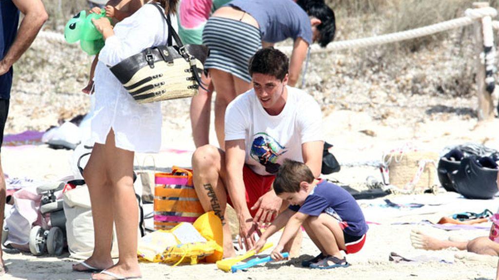 Fernando Torres, vacaciones familiares en Ibiza