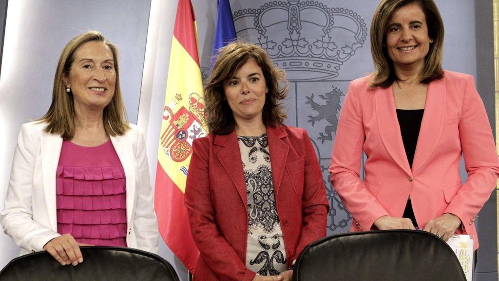 Ana Pastor, Soraya Sáenz de Santamaría y Fátima Báñez