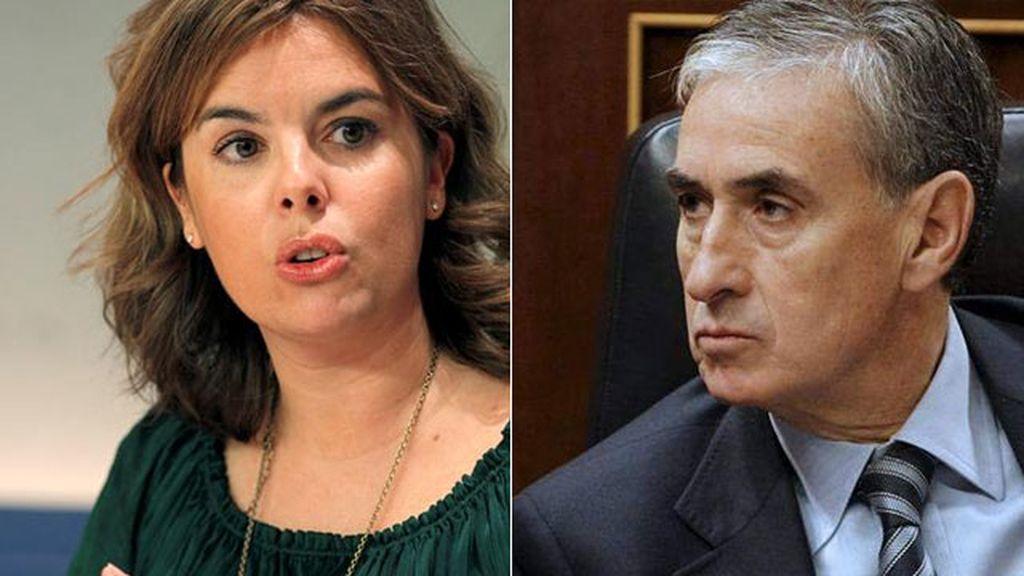 Imagen de archivo de Soraya Sáenz de Santamaría y Ramón Jáuregui