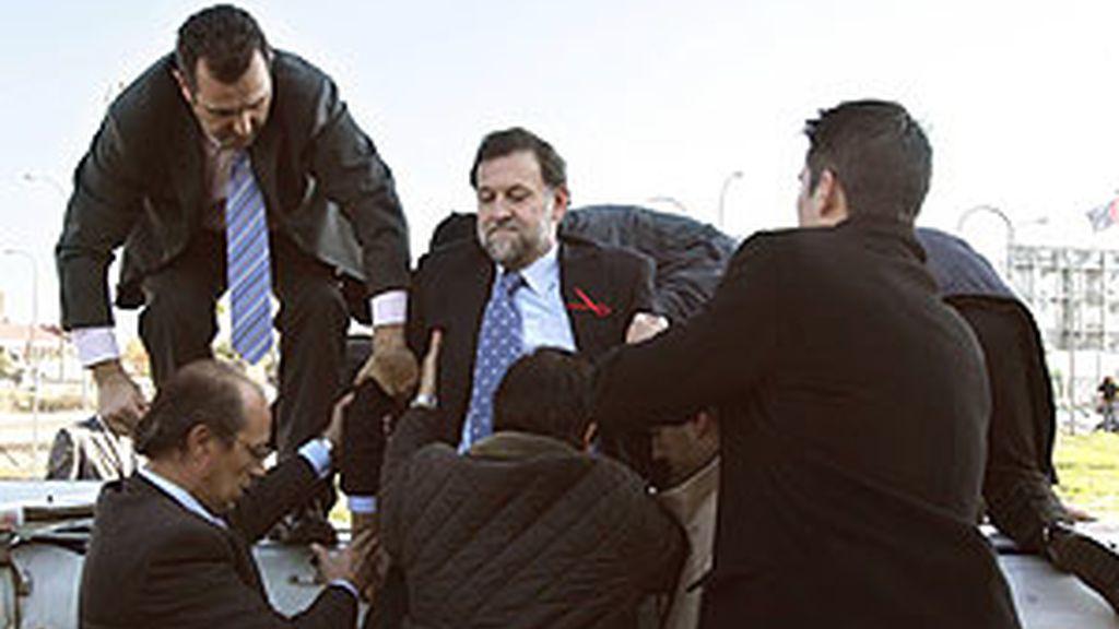 Accidente de helicóptero de Mariano Rajoy y Esperanza Aguirre en Móstoles en 2005