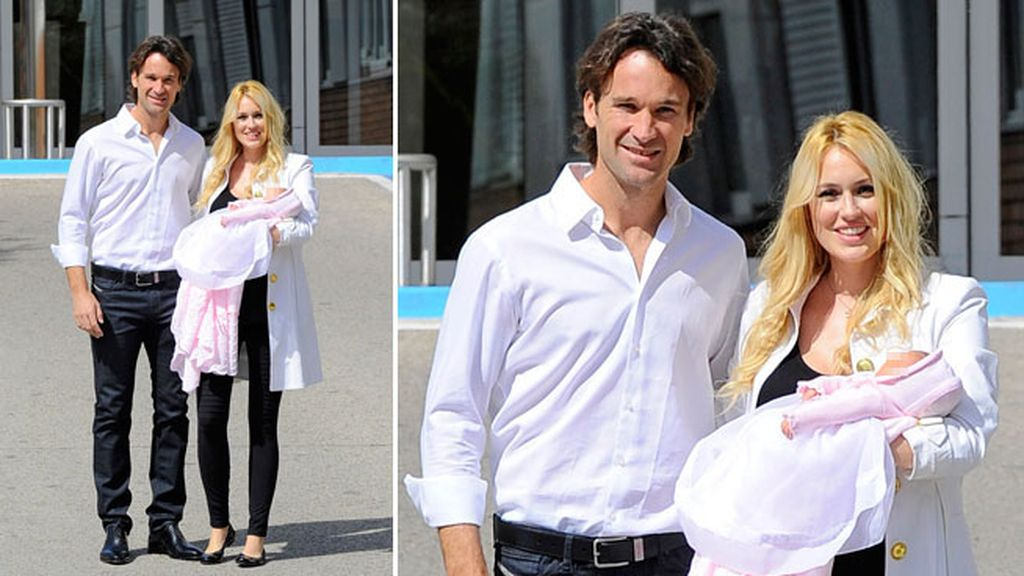 Daniela, la tercera hija de la pareja, nació el 9 de abril