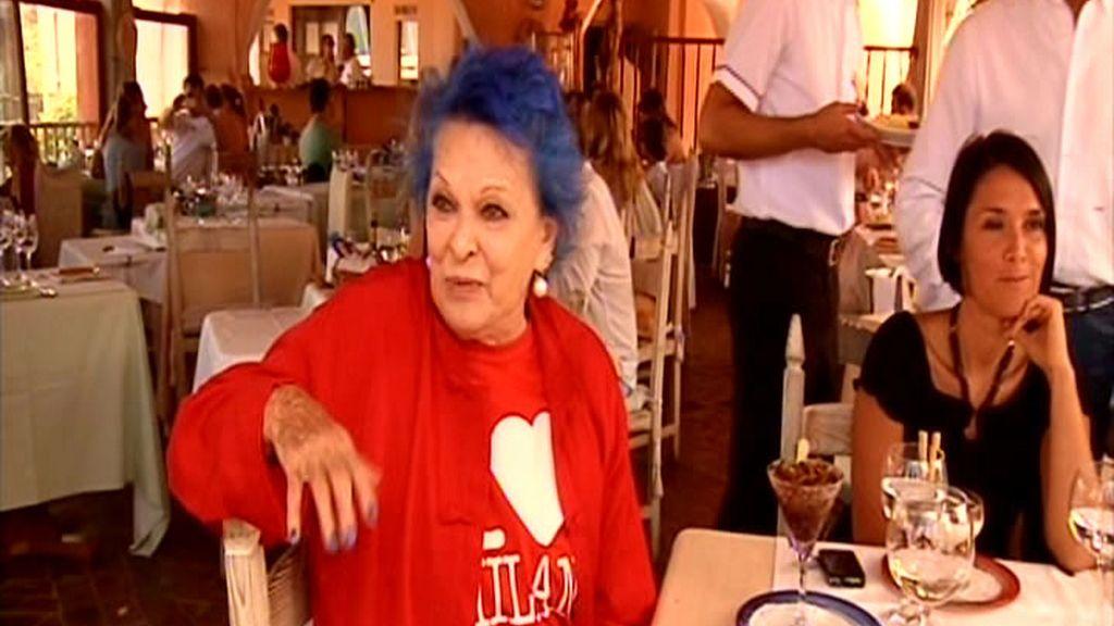 Lucía Bosé, en la isla italiana